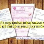 Xuất hóa đơn không đúng ngành nghề đăng ký kinh doanh