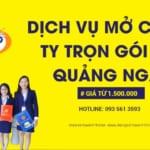 Dịch vụ mở công ty trọn gói tại Quảng Ngãi